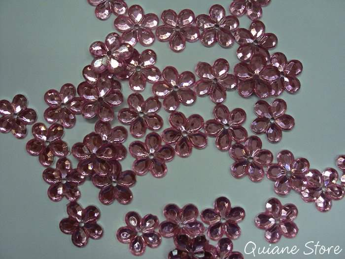 CHATON FLOR ROSA 10 mm  (Kit com 20 unidades)