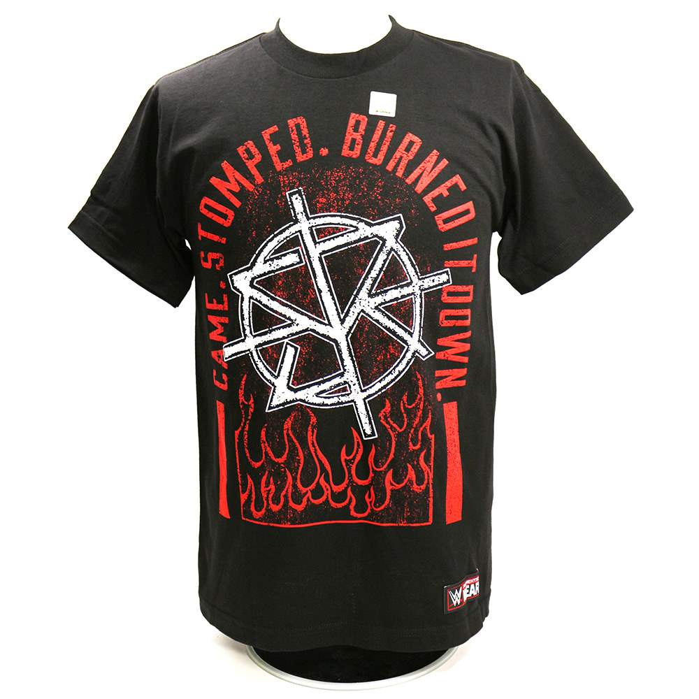 "Camiseta WWE Seth Rollins ""Came. Stomped. Burned it Down"" ORIGINAL Frete Grátis"