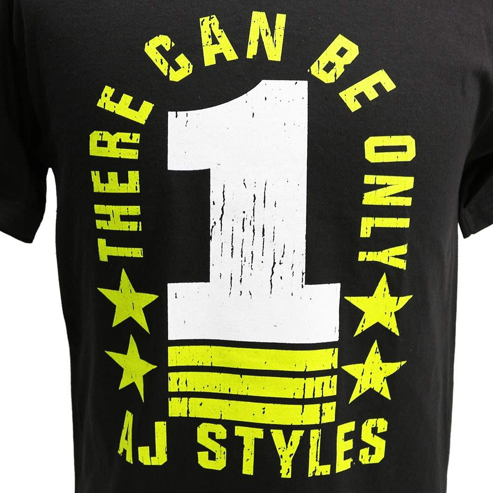 """Camiseta WWE AJ Styles """"There Can Be Only 1"""" ORIGINAL Frete Grátis"""