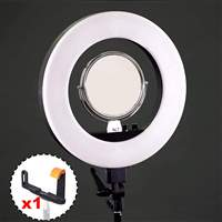 Kit LED Ring Light de 18 polegadas Bicolor com espelho