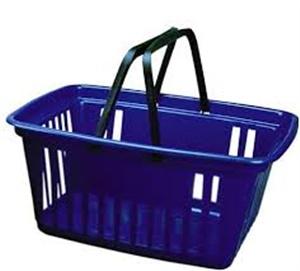 Cesta de mercado de plastico