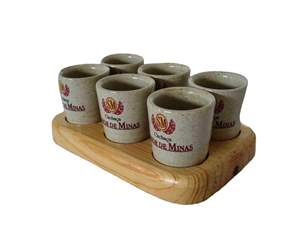Kit 6 Copos Porcelana Sabor de Minas