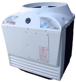 Aquecedor de Piscina, Bomba Calor trocador calor, Maxtemp Max 125