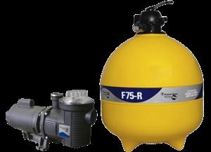 Filtro Pentair F75R com motobomba 1,5cv 220v Monofásico ou 220/380v Trifásico sem areia