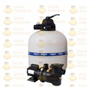 Filtro Piscina Veico V50 E Bomba 3/4cv Motor Weg P/ 70.000l