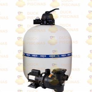 Filtro Piscina Veico V70 E Bomba 1.5CV Motor Weg P/ 112.000l