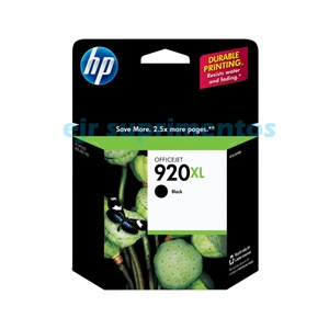 HP 920xl cartucho preto CD975AL