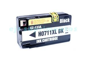 Cartucho para hp T520, T120, 711-xl preto compatível cz-133A