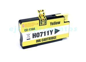 Cartucho para hp T520, T120, 711y amarelo compatível cz-132A