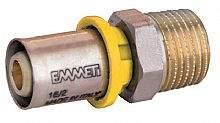 Conector Macho P/Gas 16mmx1/2 Prensar