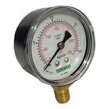 Manômetro 0 a 300lbs - 0 a 21 kg/cms² 2 1/2 r/1/4 npt