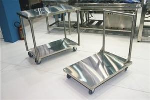 Carro plataforma aço inoxidável