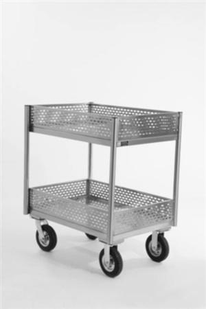 Carro para transporte de garrafas térmicas em aço inoxidável