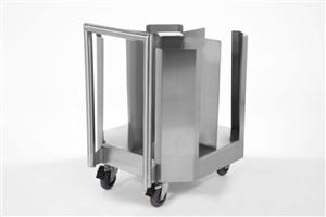 Carro para transporte de pratos 4 colunas aço inox
