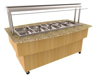 Balcões self-service para buffets restaurantes modelo One