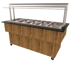 Balcões self-service para buffets restaurantes modelo PLUS