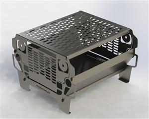 Churrasqueira Portátil Desmontável (Troller Fusca ou Jeep)
