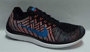 Tenis Nike Free 4.0 Flyknit - Preto/Azul/Laranja