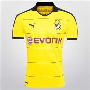 Camisa Puma Borussia Dortmund Home 2015/16 s/nº - Amarelo