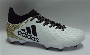 Chuteira Adidas X 16.3 FG - Branco/Preto