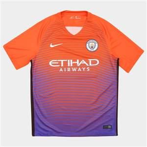 Camisa Nike Manchester City Third 16/17 s/nº - Laranja/Roxo