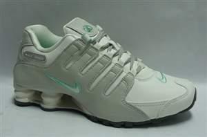 Tenis Nike Shox NZ LT W - Cinza/Verde Água