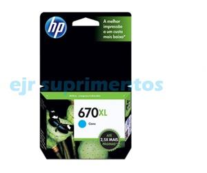 HP 670xl azul cartucho de tinta CZ118AB