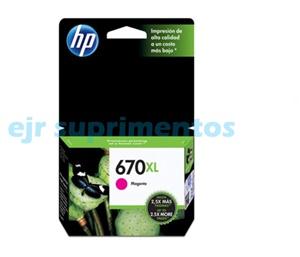 HP 670xl magenta cartucho de tinta CZ119AB