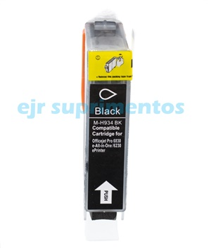 Cartucho HP 934XL compatível C2P23AL preto