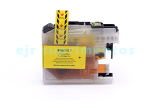 Cartucho LC103 amarelo para impressora J4310, J4410, J4510, J4610, J4710 brother compatível