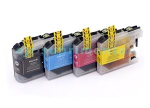 Kit 4 Cartucho LC103 1-preto, 1-magenta, 1-azul, 1- amarelo para impressora J4310, J4410, J4510, J4610, J4710 brother compatível