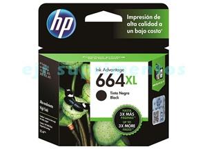 Cartucho para impressora hp 1115, 2136, 4536, 3636, 3836, 3536, 3776 e 4676, HP 664XL 664 Preto F6V31AB original.
