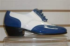 M2 azul com branco - Sapato azul com branco .