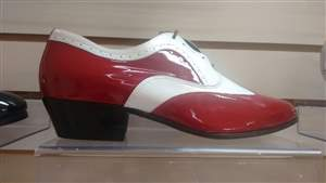 PA 2  Sapatos masculino bicolor vermelho e branco