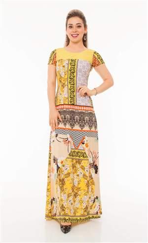 Vestido Longo Estampada Digital  - REF 12380