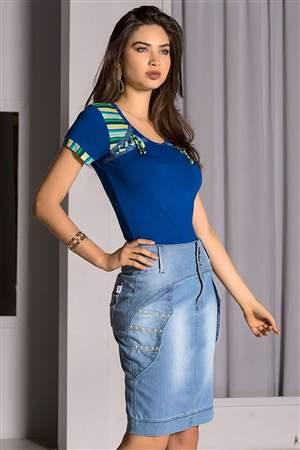 Blusa Ombros Listras  - REF C2435
