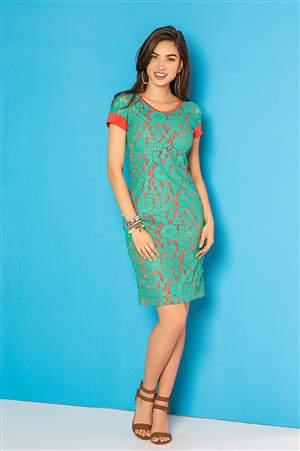 Vestido Verde Beleza  - REF 13155 - LIQUIDA