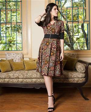Vestido Crepe Estampado - REF 13960