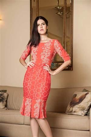 Vestido Floral Laranja - REF 13870