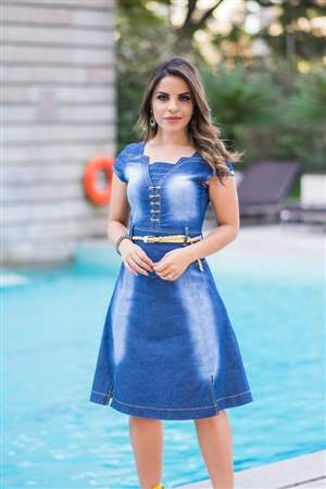 Vestido Jeans Rodado - REF 15025