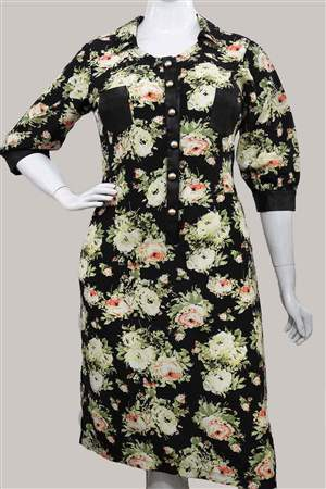 Vestido Plus Viscose - REF 11370 - LIQUIDA