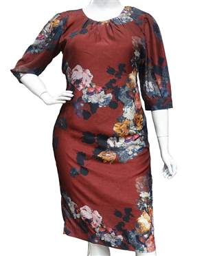 Vestido Plus Vinho - REF 11575 - LIQUIDA