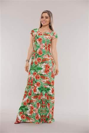 Vestido Longo Floral - REF 12155