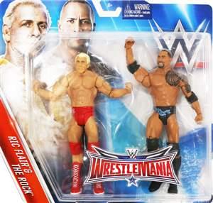Ric Flair & The Rock WWE Pack Wrestlemania 32 ORIGINAL Frete Grátis