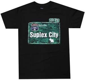 "Camiseta WWE Brock Lesnar ""Suplex City"" ORIGINAL Pronta Entrega"