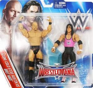 Bret Hart & Stone Cold Steve Austin WWE Pack Wrestlemania 32 +BRINDE ORIGINAL Pronta Entrega