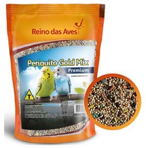 Ração Reino das Aves Periquito Gold Mix 500 gr c/ 1 un.