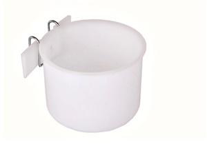 Caneca Plástica Jel Plast para Papagaio c/ Suporte de Arame