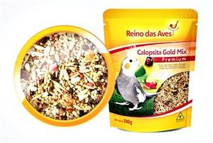 Ração Reino das Aves Calopsita Gold Mix 500 gr c/ 1 un.