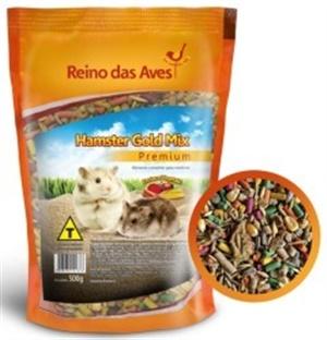 Ração Reino das Aves Roedores Gold Mix 500 gr c/ 01 un.